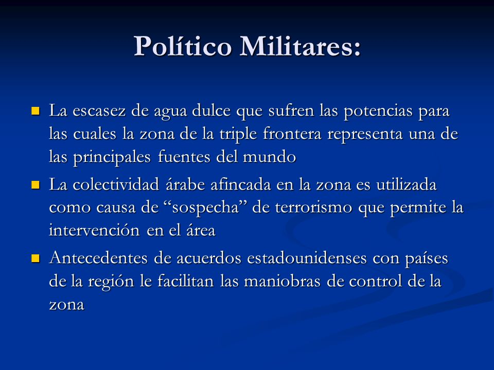 Político Militares: