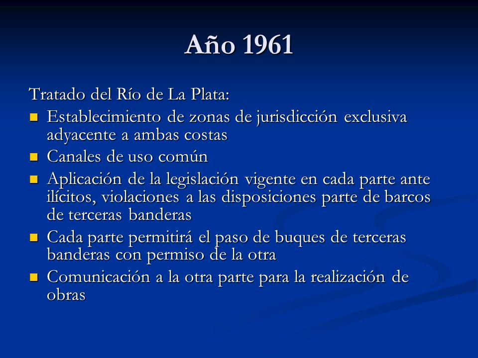 Año 1961 Tratado del Río de La Plata: