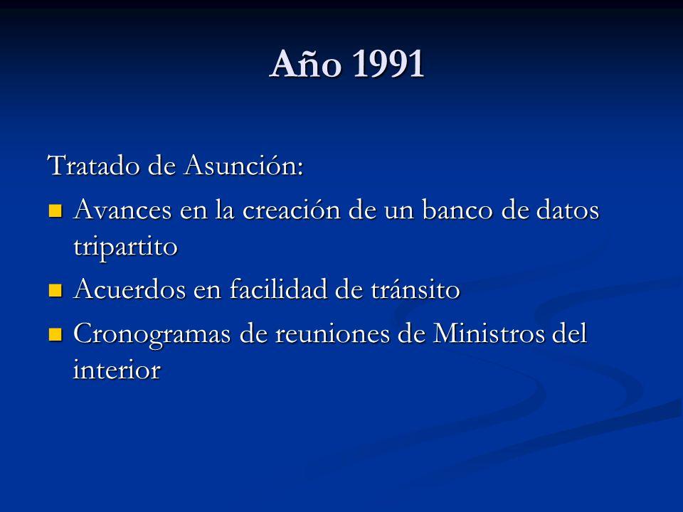 Año 1991 Tratado de Asunción: