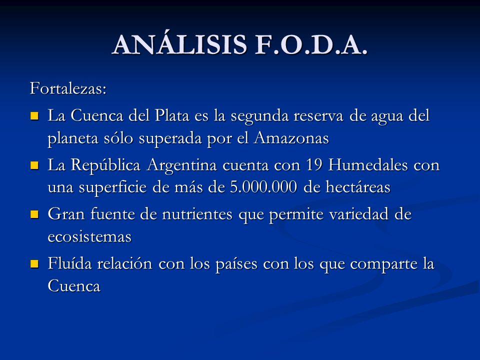 ANÁLISIS F.O.D.A. Fortalezas: