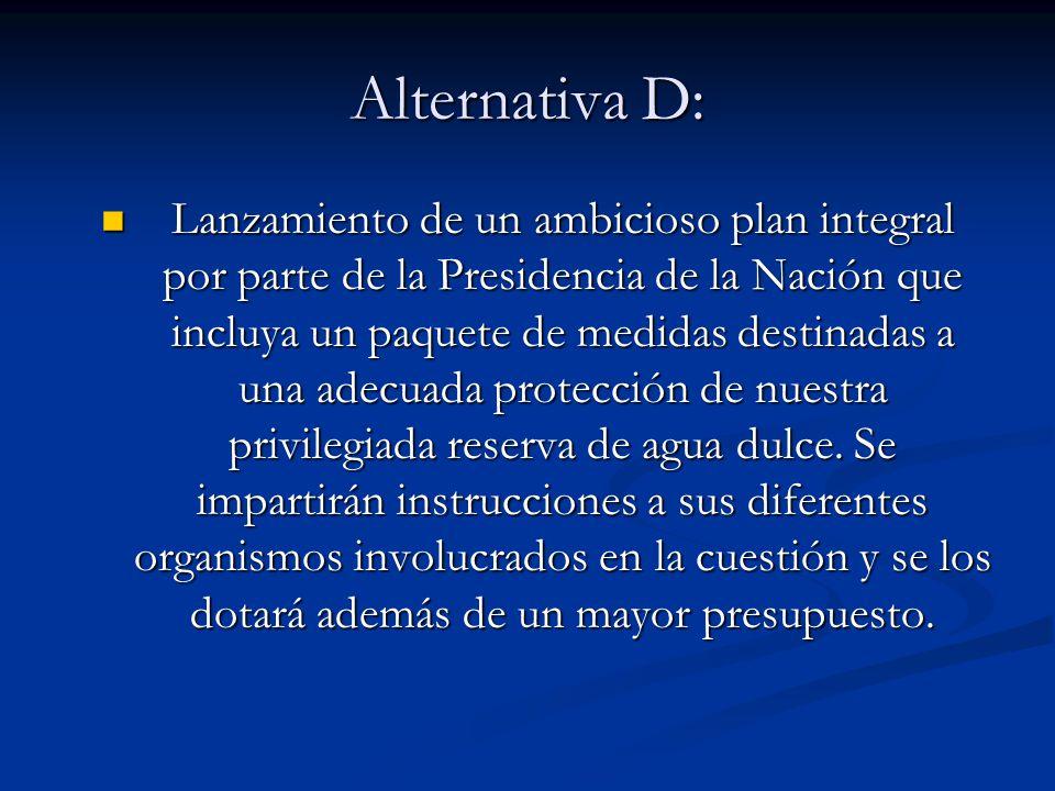 Alternativa D: