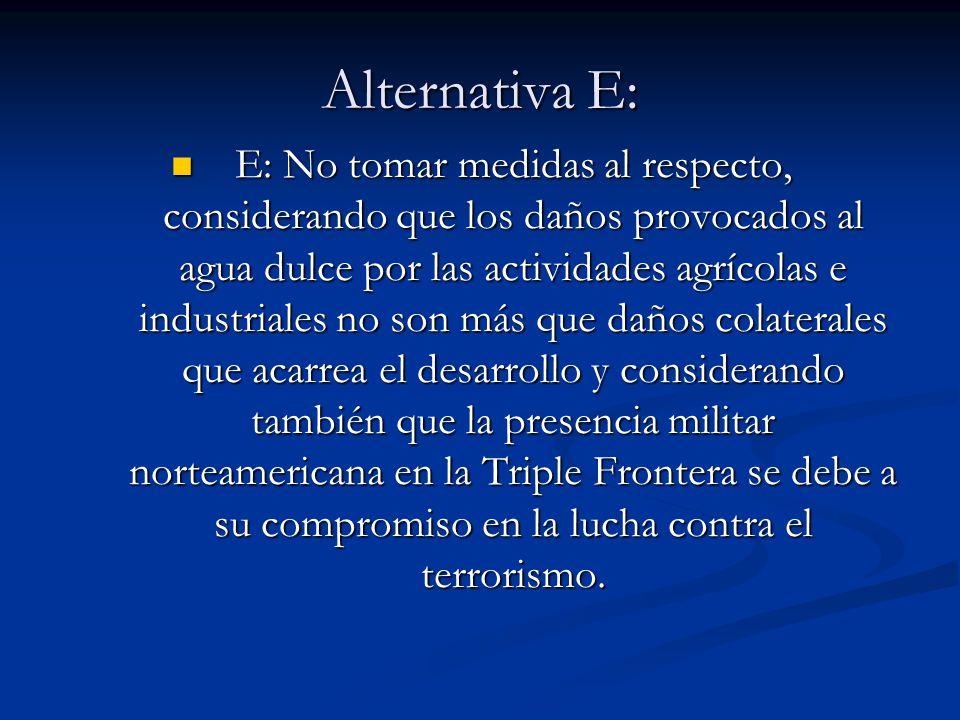Alternativa E: