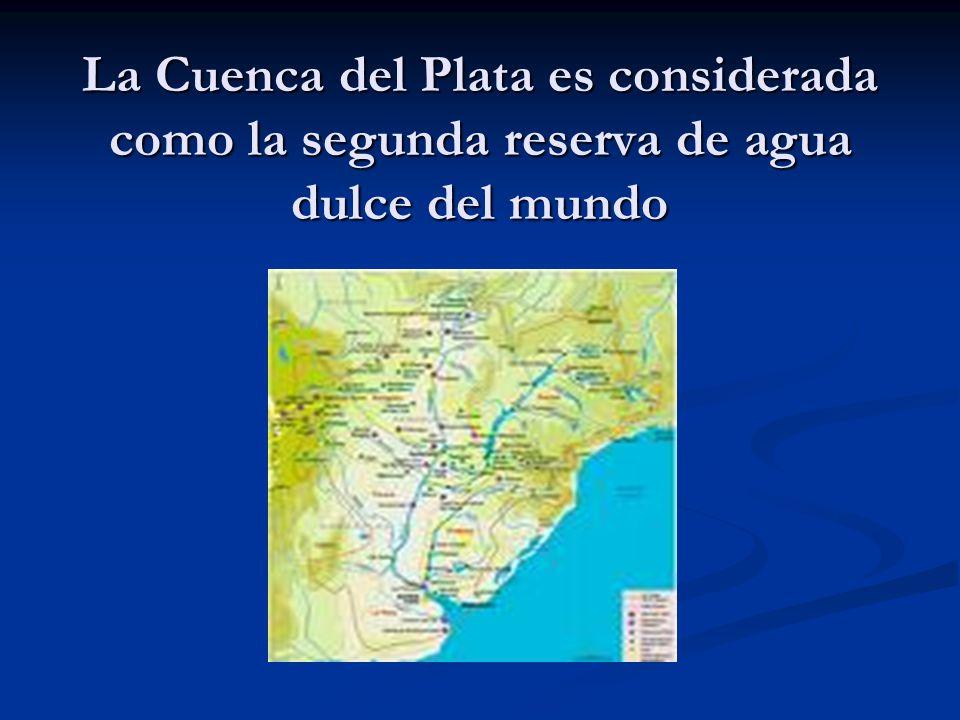 La Cuenca del Plata es considerada como la segunda reserva de agua dulce del mundo
