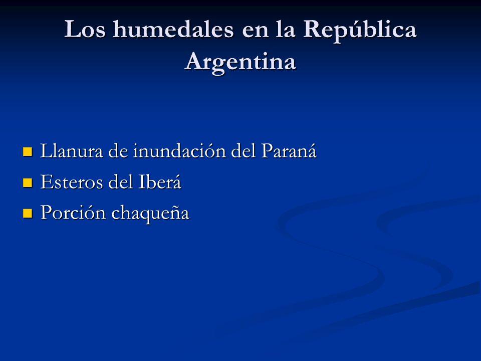 Los humedales en la República Argentina