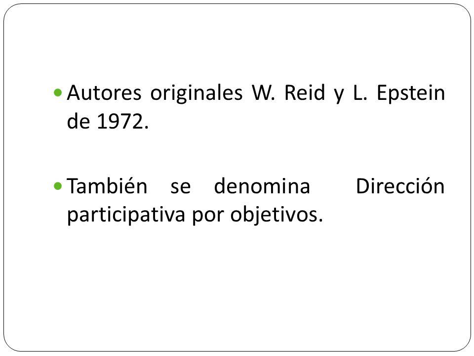 Autores originales W. Reid y L. Epstein de 1972.