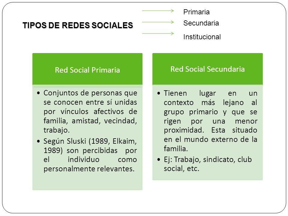 TIPOS DE REDES SOCIALES