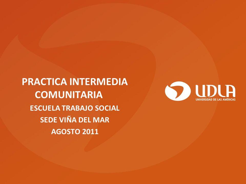 PRACTICA INTERMEDIA COMUNITARIA ESCUELA TRABAJO SOCIAL