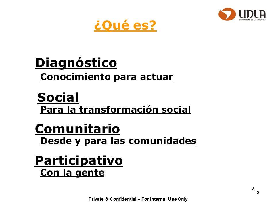¿Qué es Diagnóstico Social Comunitario Participativo