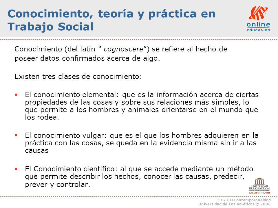 Conocimiento, teoría y práctica en Trabajo Social