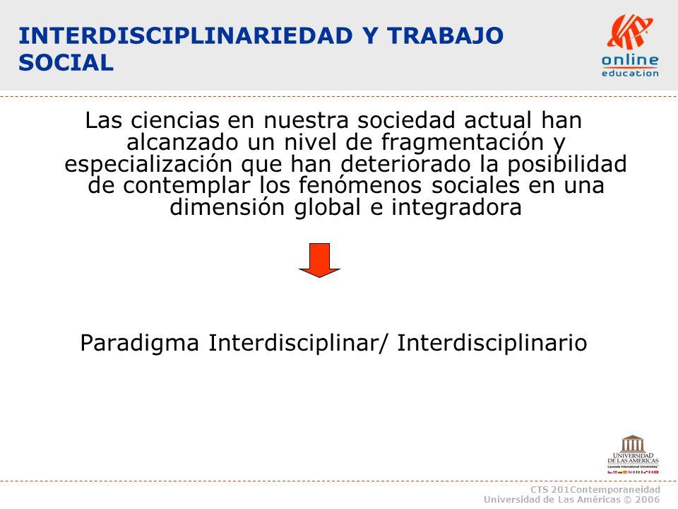 INTERDISCIPLINARIEDAD Y TRABAJO SOCIAL