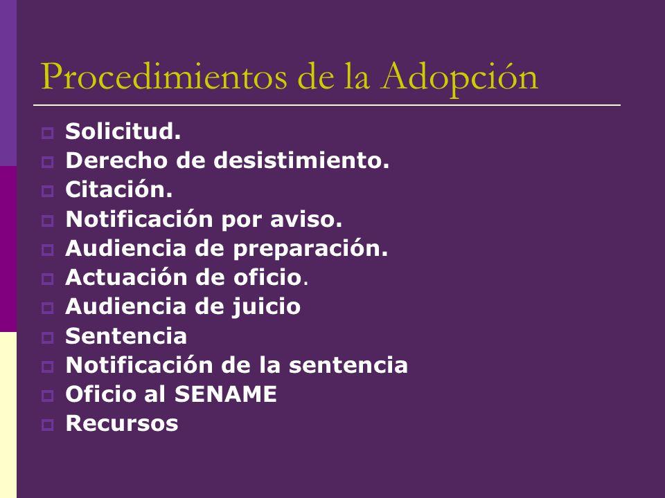 Procedimientos de la Adopción
