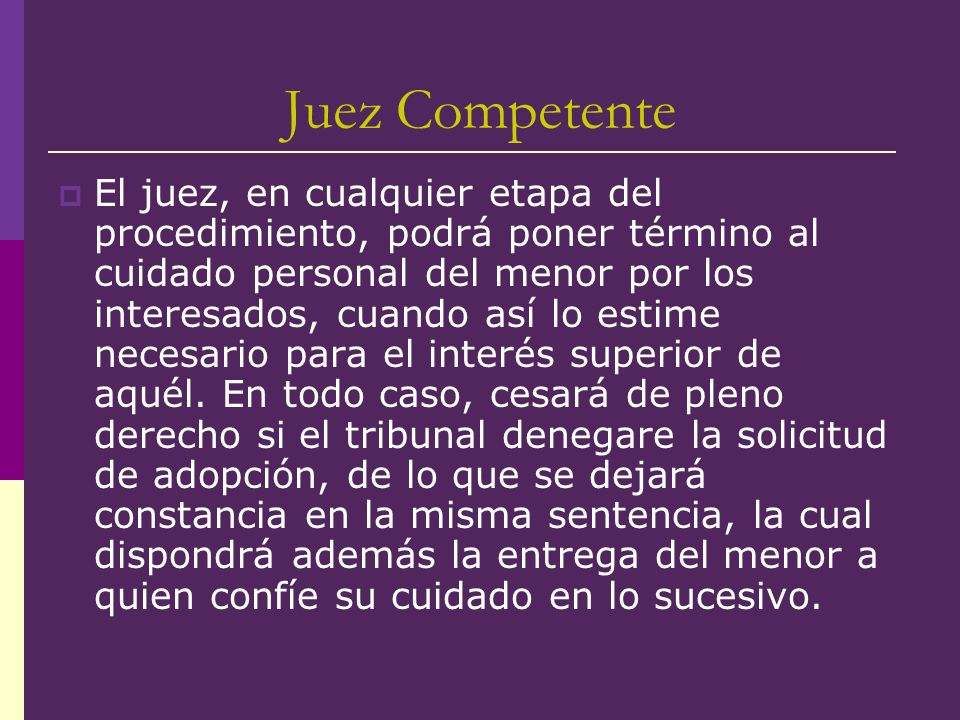 Juez Competente