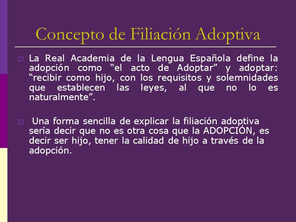 Concepto de Filiación Adoptiva