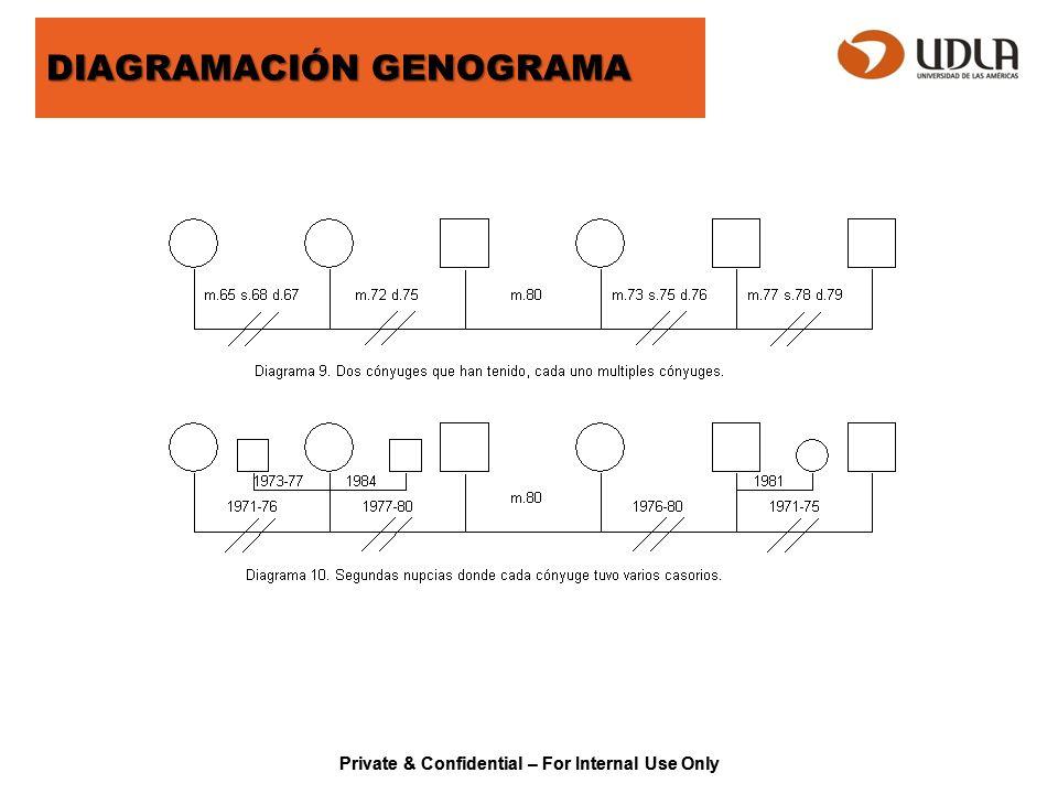 DIAGRAMACIÓN GENOGRAMA
