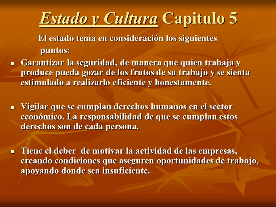 Estado y Cultura Capitulo 5