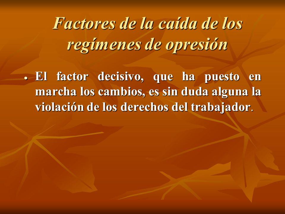 Factores de la caída de los regímenes de opresión