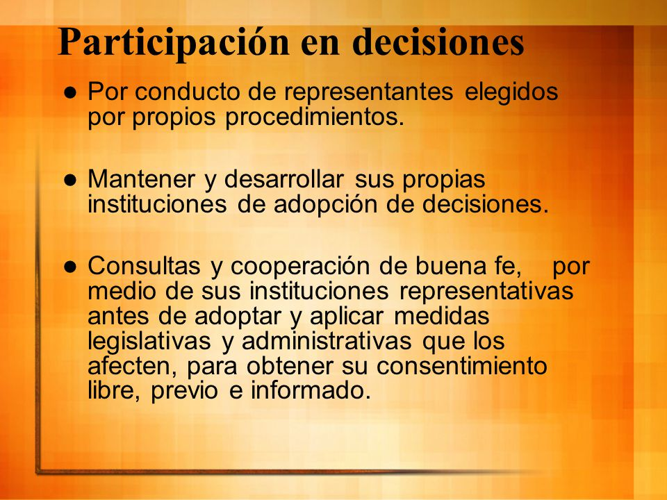 Participación en decisiones
