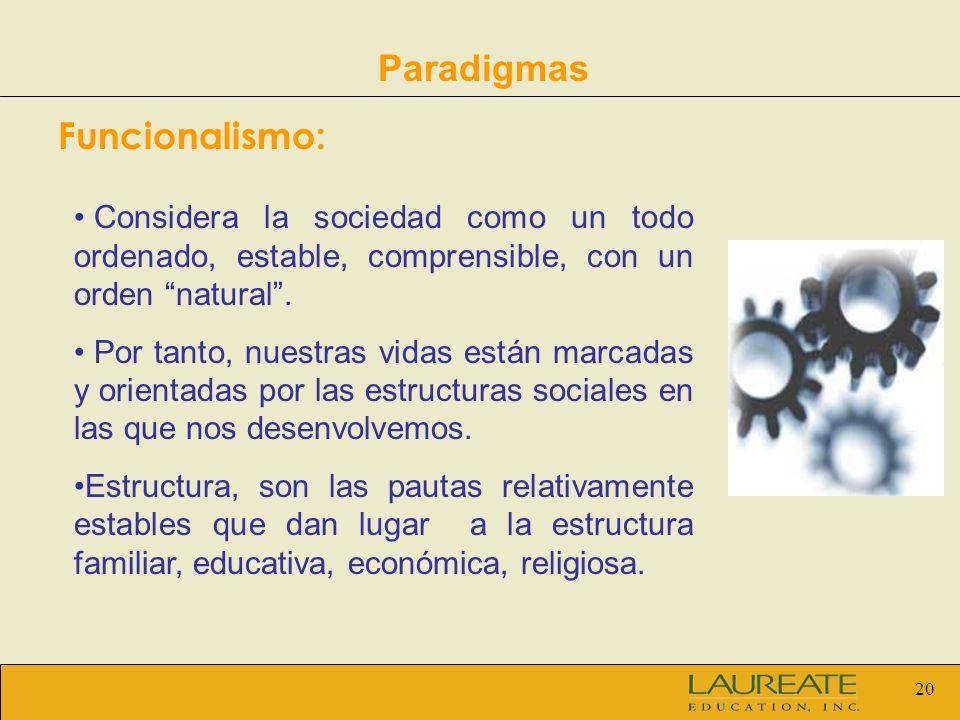 Paradigmas Funcionalismo: