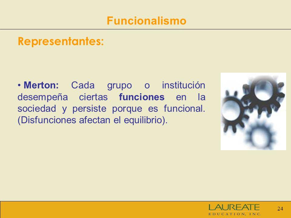 Funcionalismo Representantes: