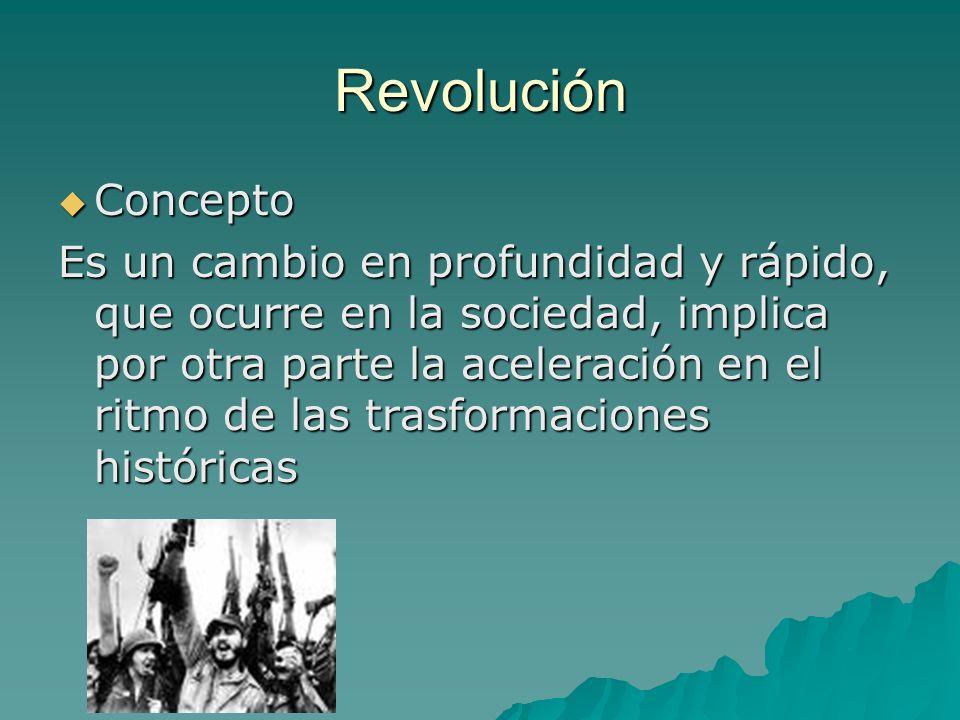 Revolución Concepto.