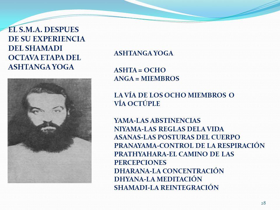 EL S.M.A. DESPUES DE SU EXPERIENCIA DEL SHAMADI