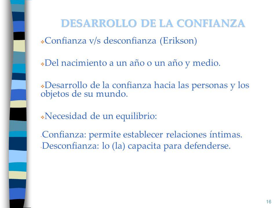 DESARROLLO DE LA CONFIANZA