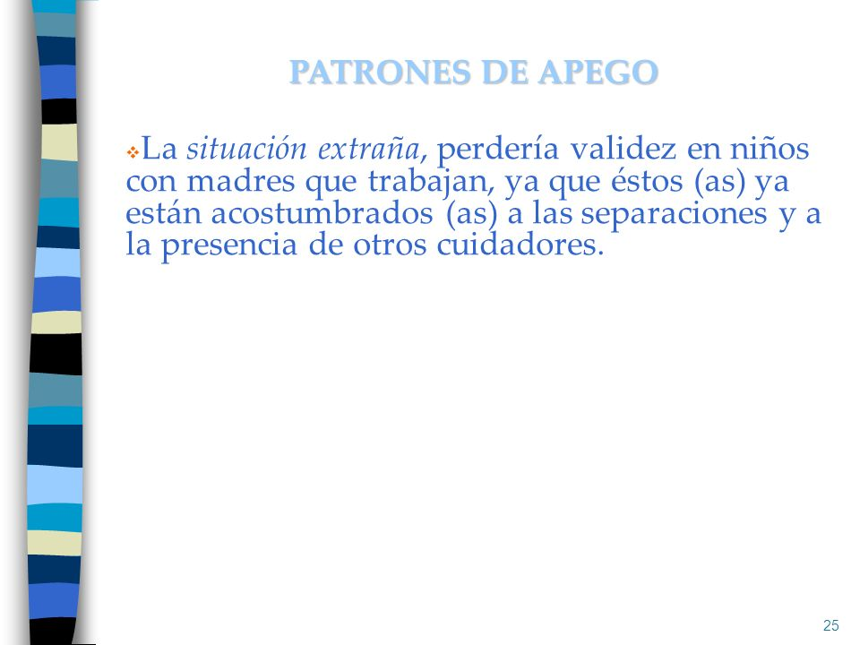 PATRONES DE APEGO