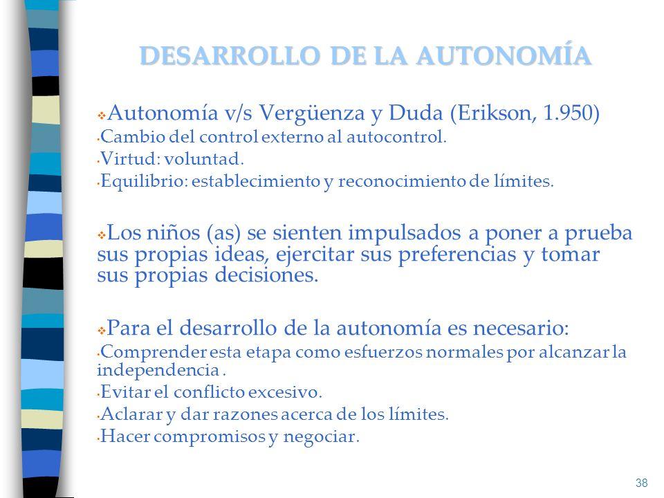 DESARROLLO DE LA AUTONOMÍA