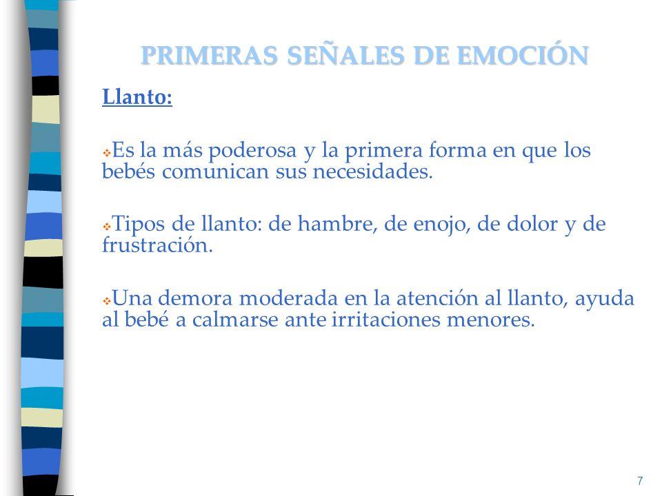 PRIMERAS SEÑALES DE EMOCIÓN
