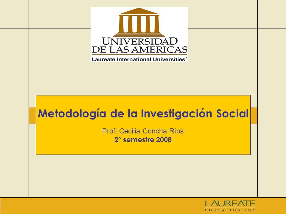 Metodología de la Investigación Social