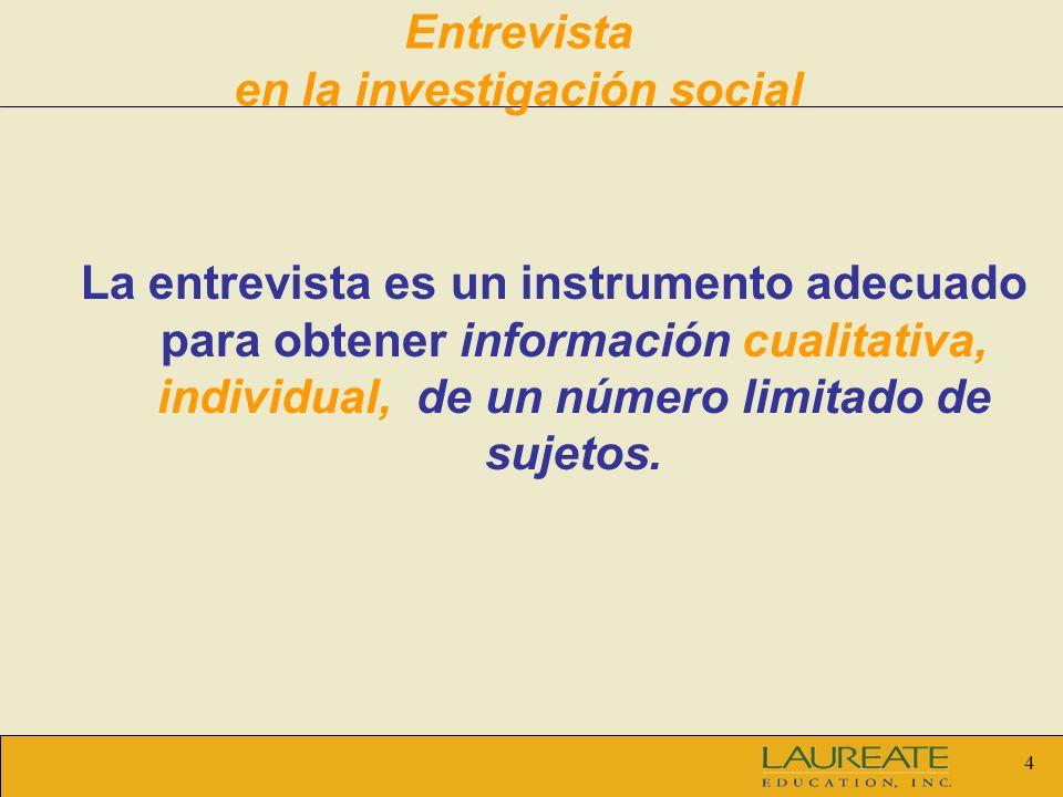 Entrevista en la investigación social