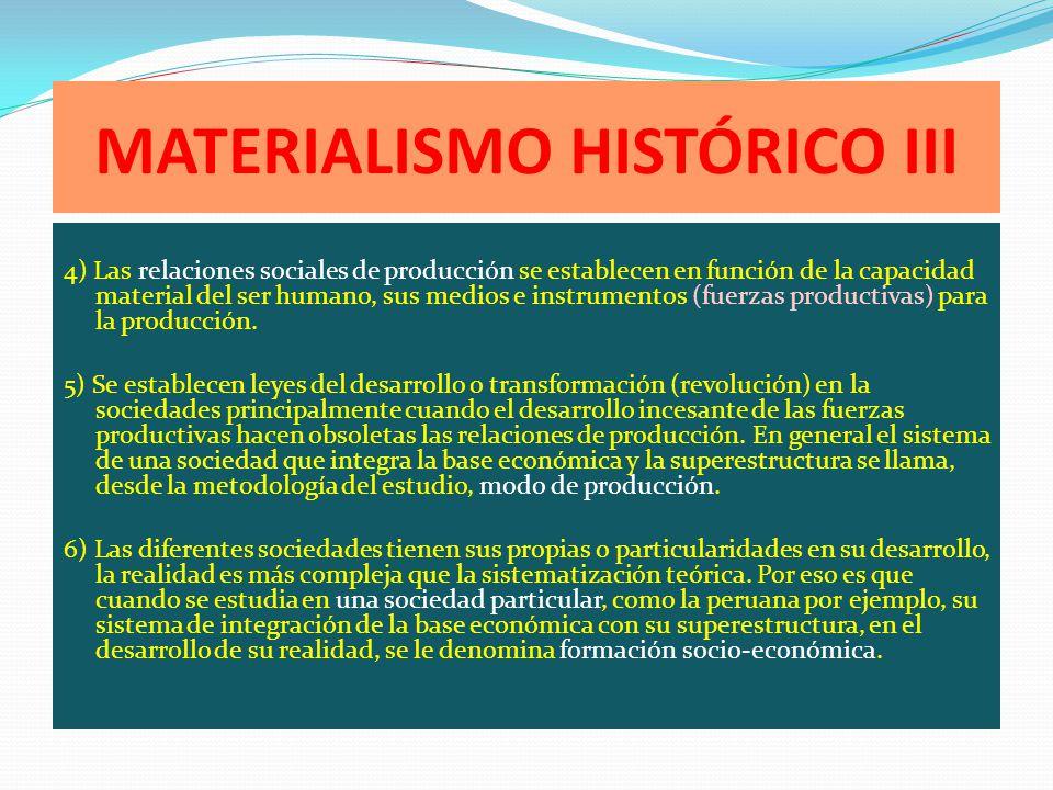 MATERIALISMO HISTÓRICO III