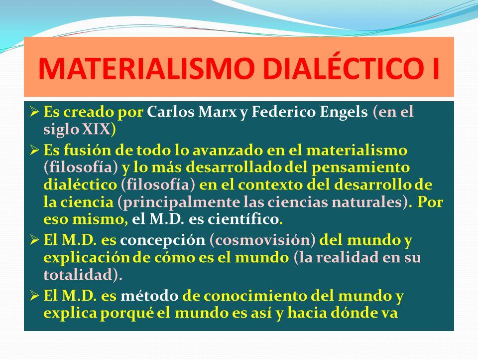 MATERIALISMO DIALÉCTICO I