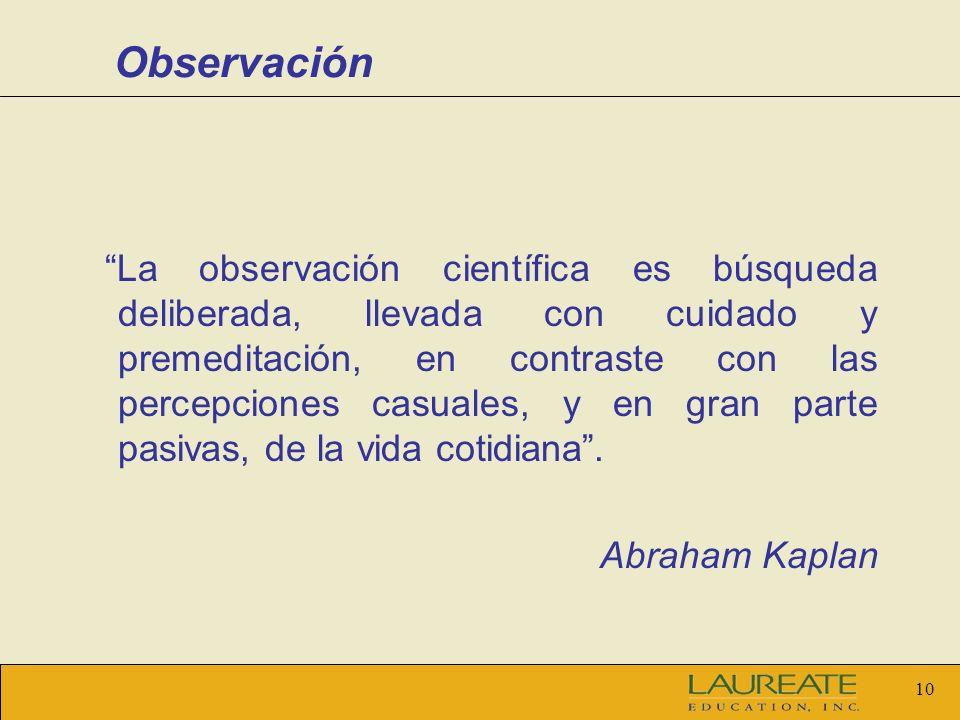 Observación Abraham Kaplan