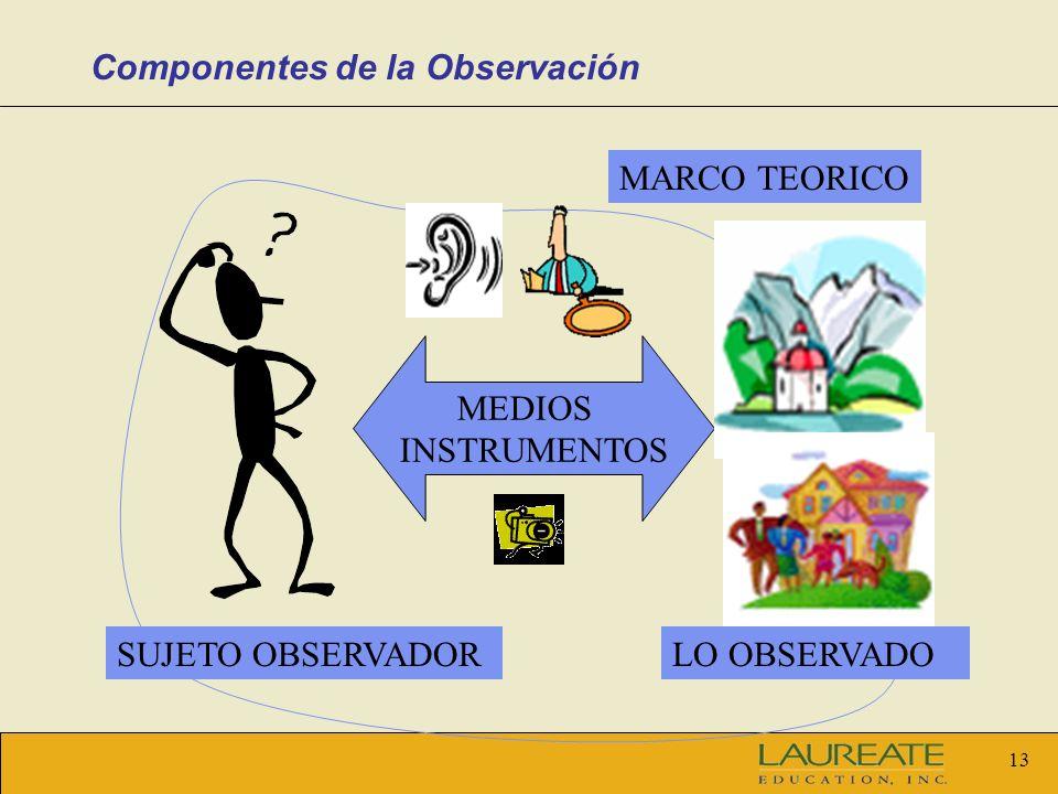 Componentes de la Observación