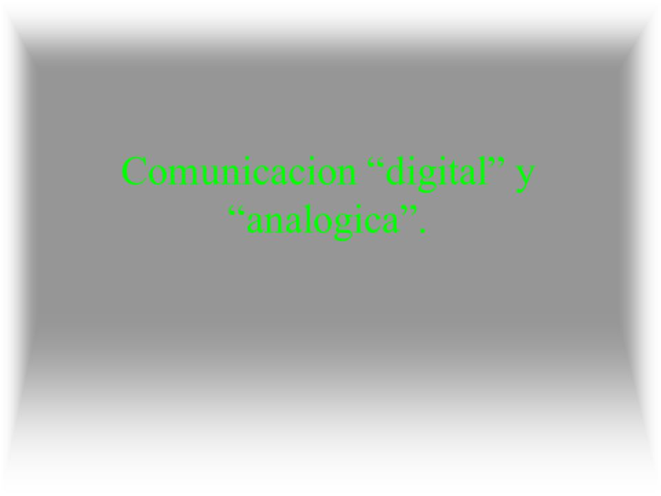 Comunicacion digital y analogica .
