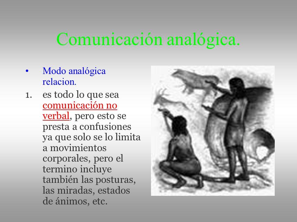 Comunicación analógica.