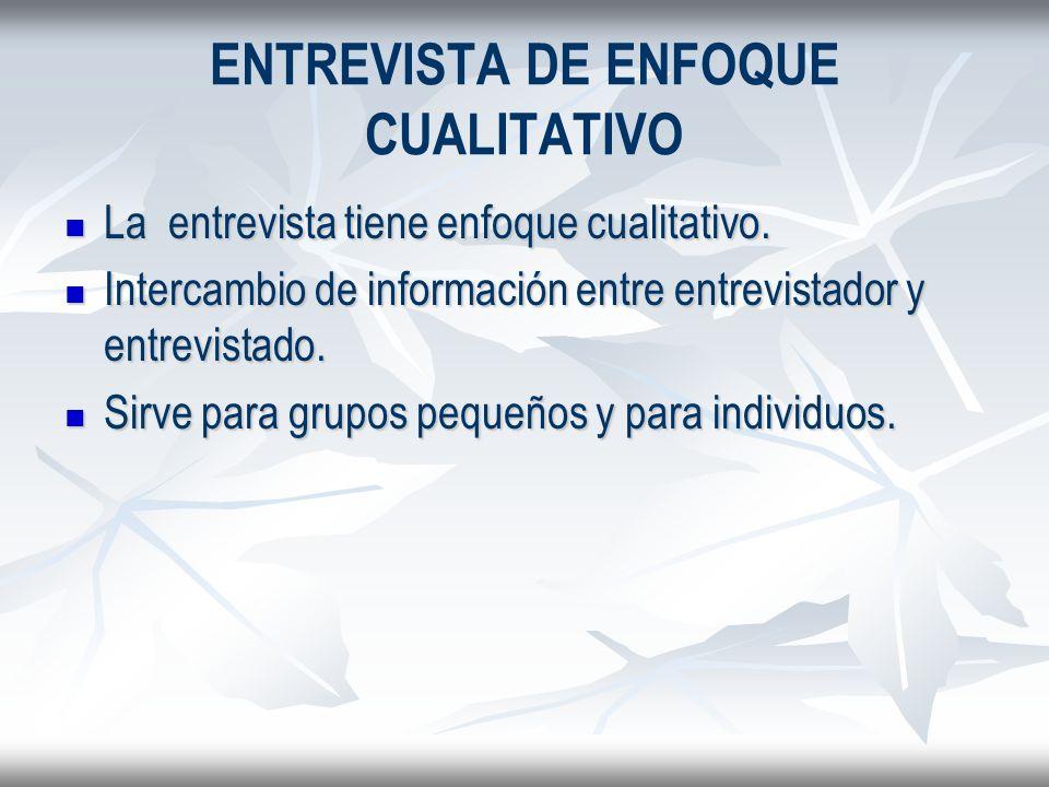ENTREVISTA DE ENFOQUE CUALITATIVO