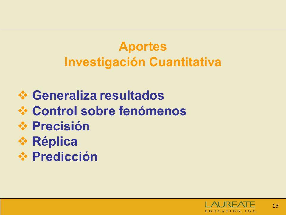 Aportes Investigación Cuantitativa