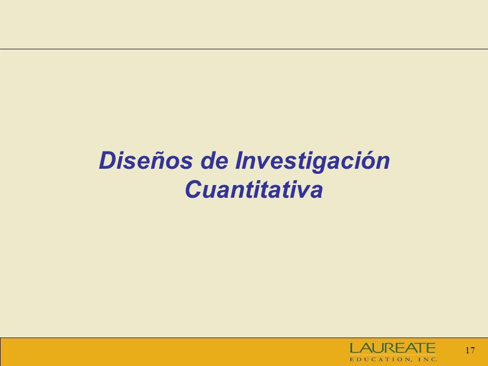 Diseños de Investigación Cuantitativa