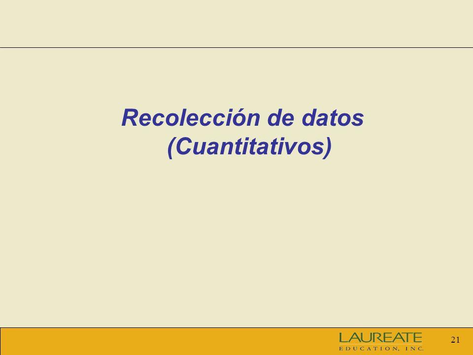 Recolección de datos (Cuantitativos)