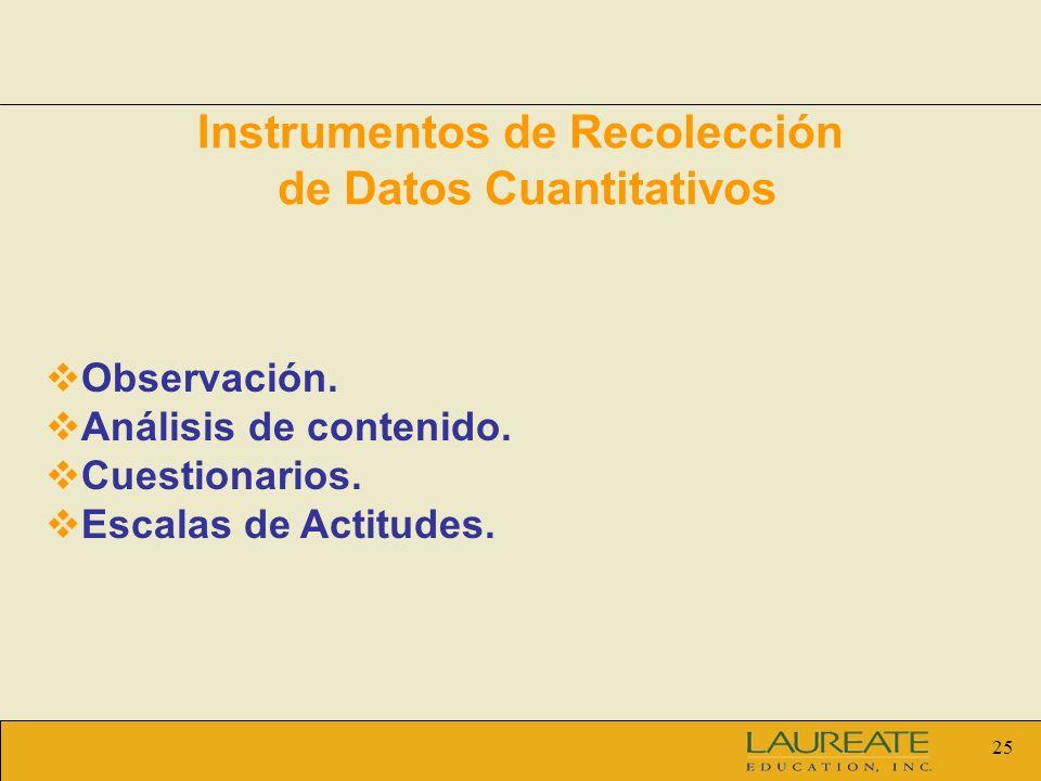 Instrumentos de Recolección de Datos Cuantitativos