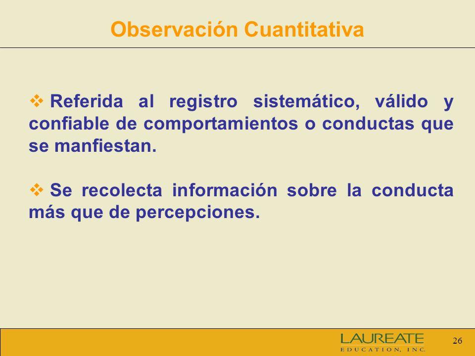 Observación Cuantitativa