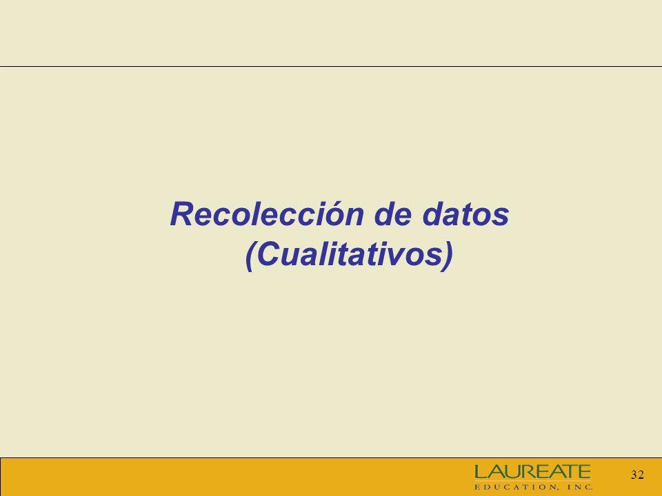 Recolección de datos (Cualitativos)
