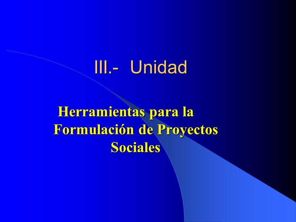 Herramientas para la Formulación de Proyectos Sociales