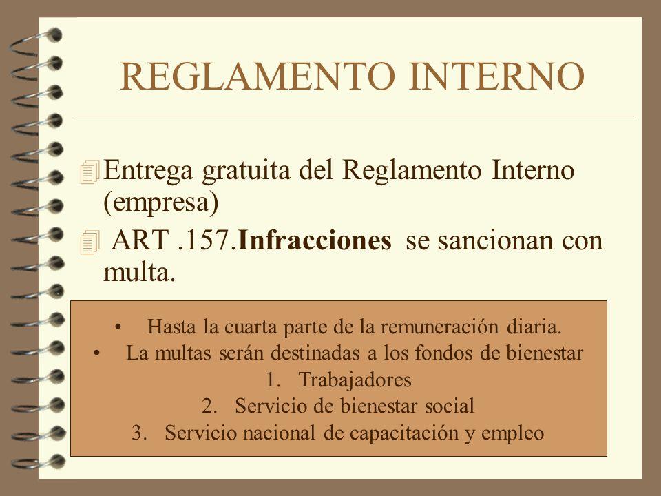 REGLAMENTO INTERNO Entrega gratuita del Reglamento Interno (empresa)