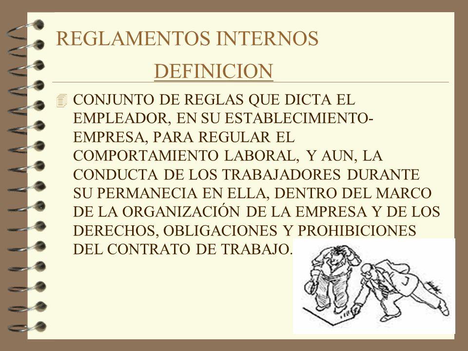 REGLAMENTOS INTERNOS DEFINICION