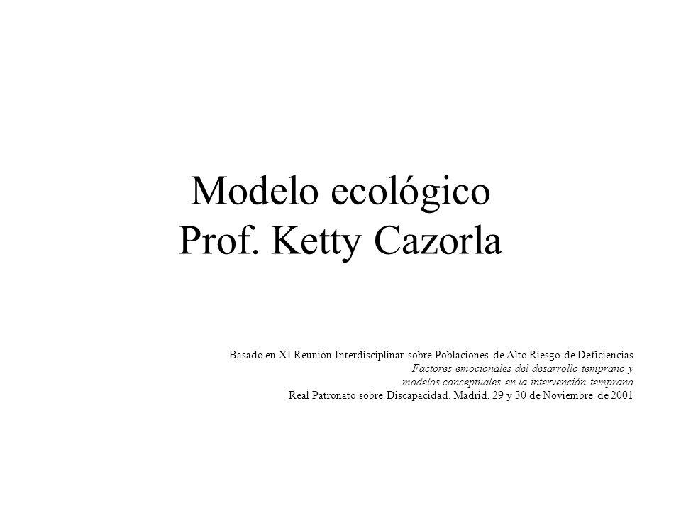 Modelo ecológico Prof. Ketty Cazorla
