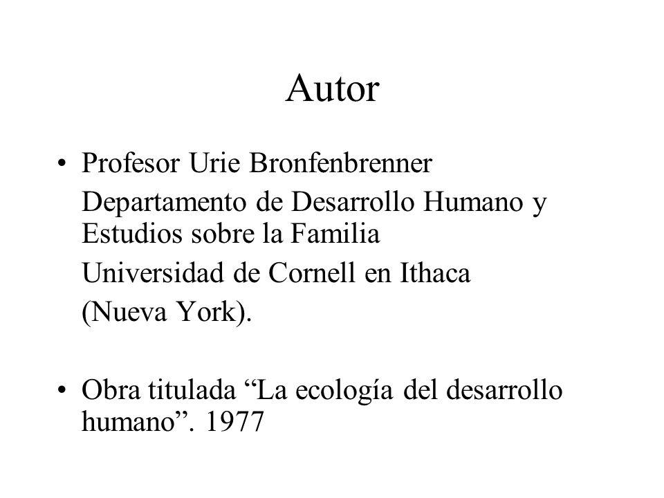 Autor Profesor Urie Bronfenbrenner