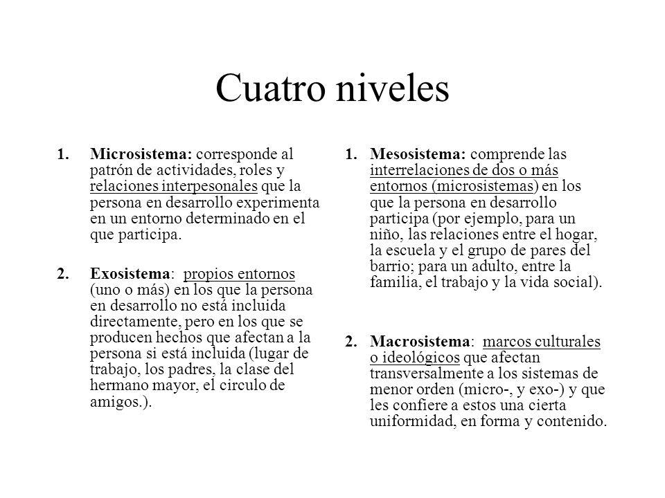 Cuatro niveles